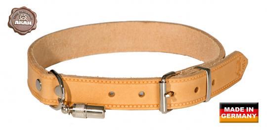 Halsband, genietet, aus Fahlleder, 40 cm
