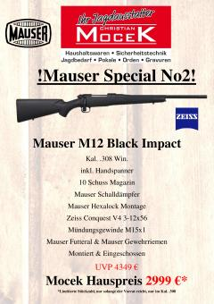 Mauser M12 Black Impact, mit Zeiss Conquest V4 3-12x56