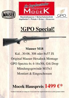 Mauser M18, mit GPO Spectra 4x 4-16x50i G4i Drop