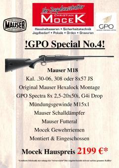 Mauser M18, mit GPO Spectra 8x 2,5-20x50i G4i Drop