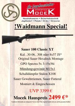 Sauer 100 Classic XT, mit GPO Spectra 5x 3-15x56i