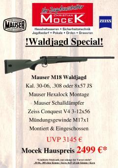 Mauser M18 Waldjagd, mit Zeiss Conquest V4 3-12x56
